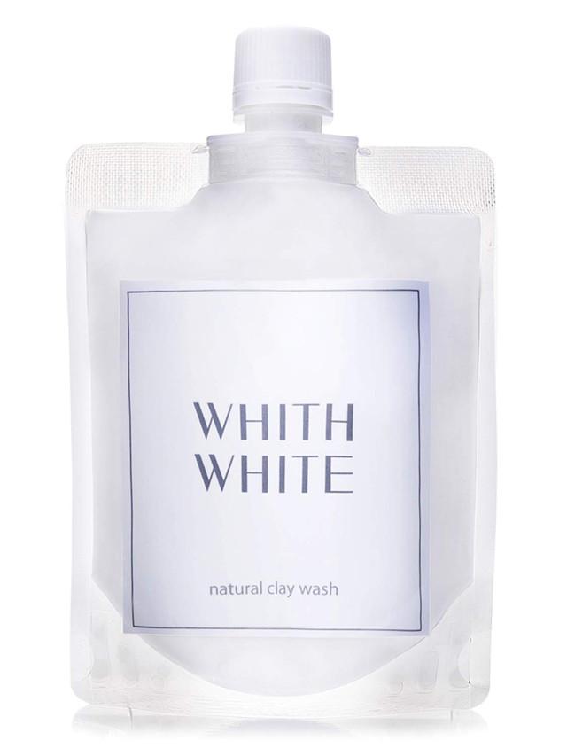 WHITH WHITE 泥 洗顔 クレイ で 毛穴 洗浄 ニキビ を防ぐ 泡 洗顔ネット 付き 7つの 無添加 「 日本製 医薬部外品 」「 泥洗顔料 130g + 泡立てネット リッチ セット 」「 まつエク OK 楽しい どろあわワ ーク」