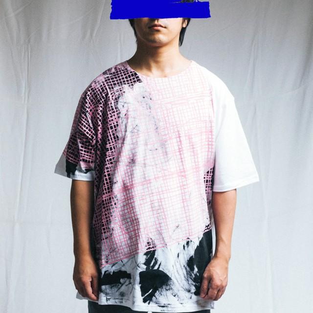 TYPICAL FREAKS - Pink cutting mat tshirt(特注) - TFMEN1-26