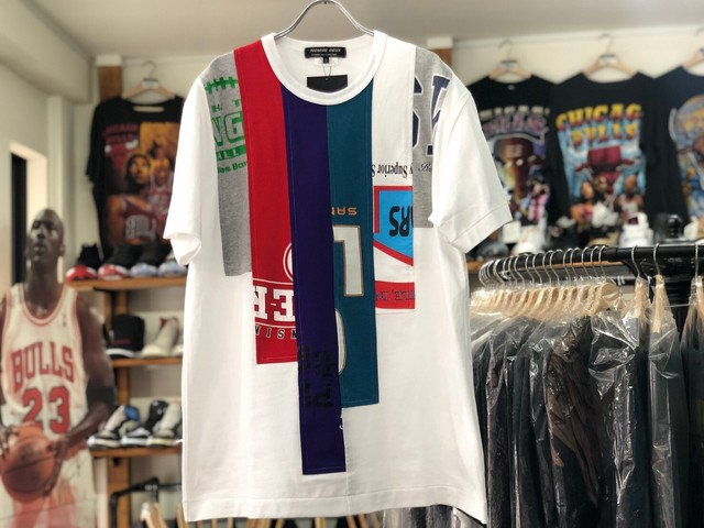 COMME DES GARCONS HOMME DEUX 20SS REMAKE PATCHWORK TEE WHITE LARGE 60JF6487