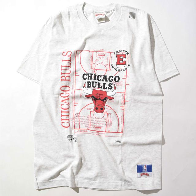 【Lサイズ】NUTMEG ナツメグ BULLS CORT ブルズ Tee Tシャツ GRAY グレー シミ有 243301190306