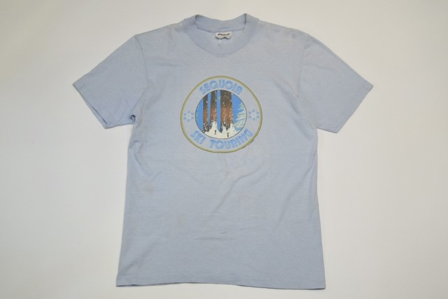 USED 80s SEQUOIA SKI TOURING T-Shirt -Medium 01142