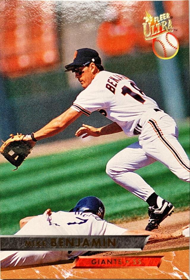 MLBカード 93FLEER Mike Benjamin #127 GIANTS