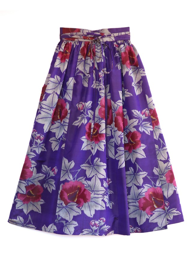 SOPHIA WRAP SKIRT - tanzanite