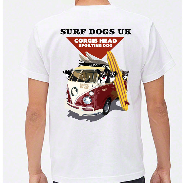 No.0043  surf dog Tシャツ