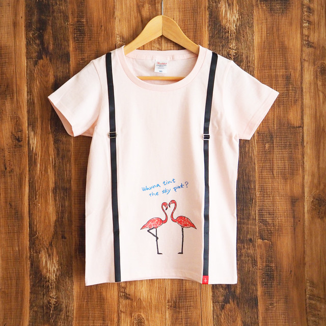 【半額】レディースTシャツ[フラミンゴ]ピンク《 送料無料 》