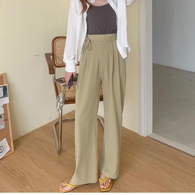 サイドリボンドレープパンツ【side ribbon drape pants】