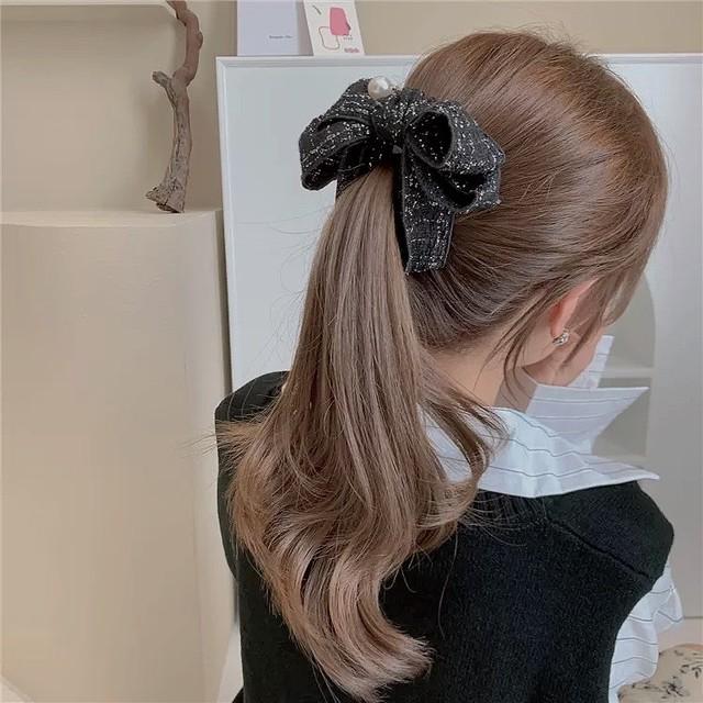 tweed ribbon clip 2color
