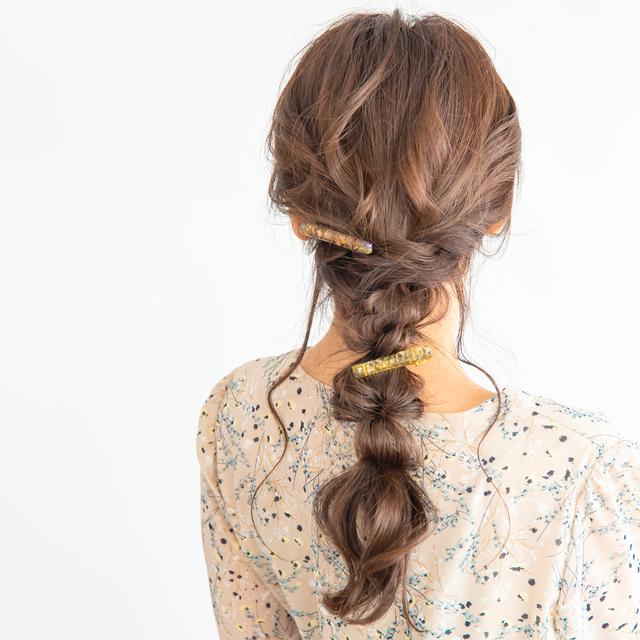 【 一点もの 】レジンヘアクリップ Mサイズ 縦0.8cm × 幅6cm ハンドメイドヘアアクセサリー【soie for hair】 Loufreasy × gorogoro gallery