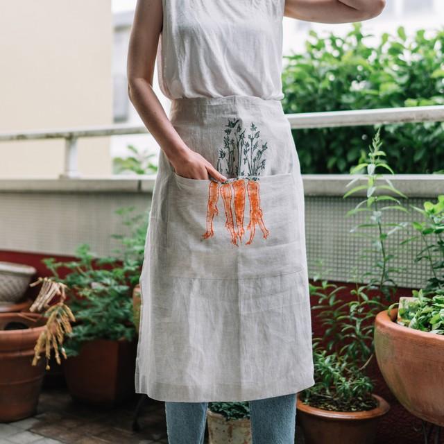 Half apron orange carrot|ハーフエプロン オレンジキャロット