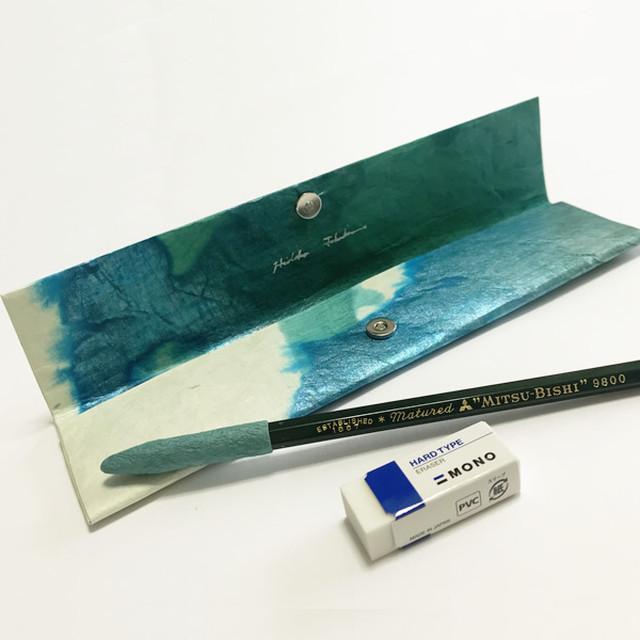 和紙のペンケース No.524