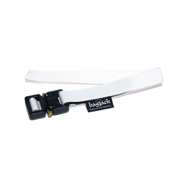 【bagjack】 cobra 25mm belt WHT×BLK