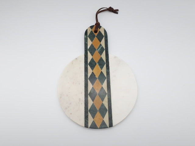 【amabro アマブロ】STONE CUTTING BOARD -MOSAIC- / Marble White