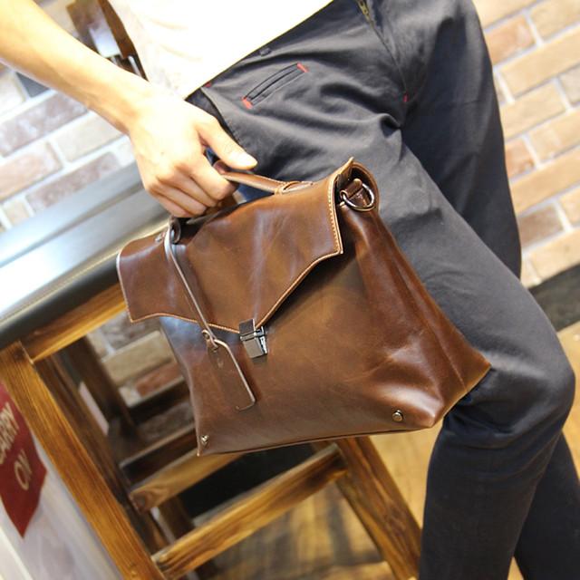 ビジネスバッグ レザー 革 ブリーフケース メンズ アタッシュケース 斜めがけ 斜めbag-150
