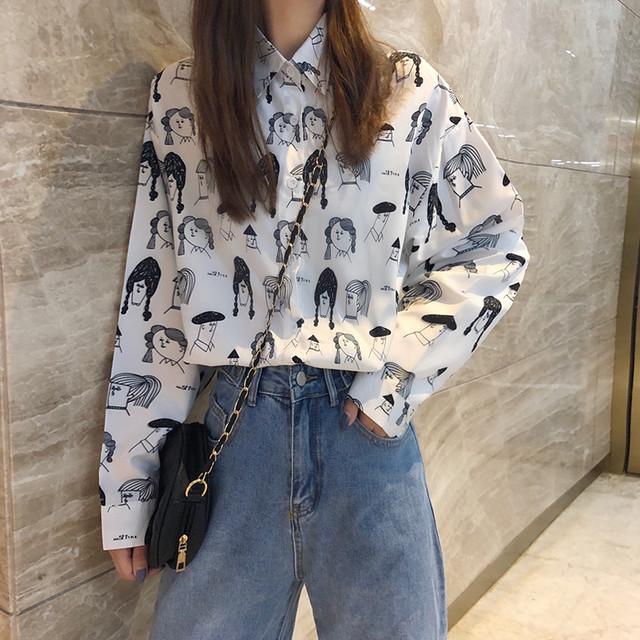 【トップス】洋服 通販 おすすめスウィートプリントシャツ26451982