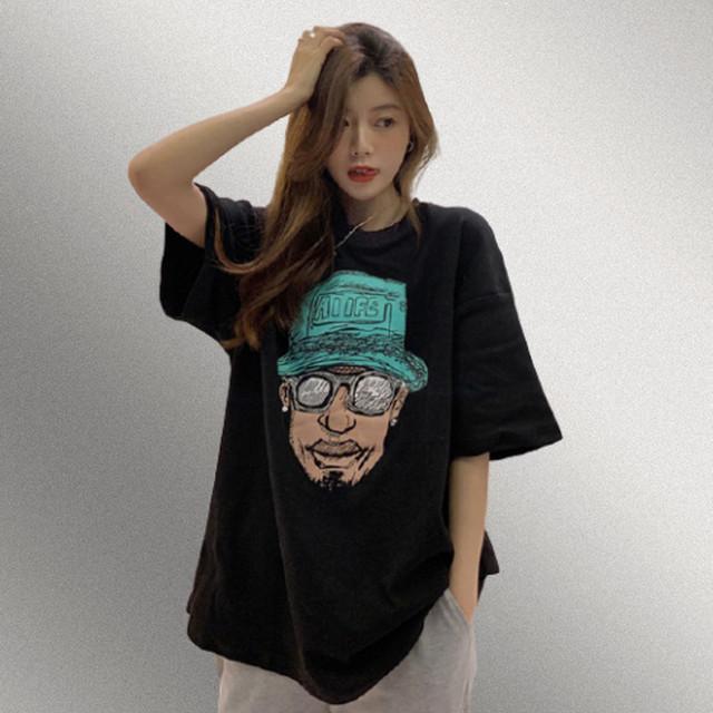 【トップス】韓国系半袖ラウンドネックプルオーバーTシャツ42250685
