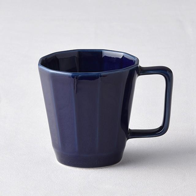 面取マグカップ・紺