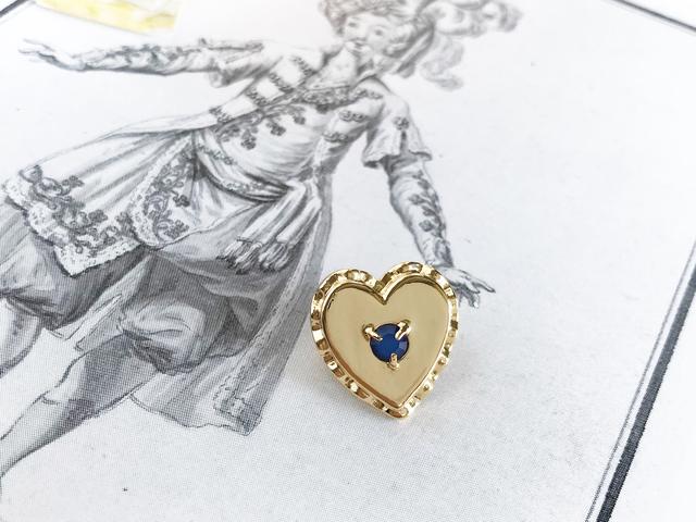 Oreiller brooch ー opal blue ー