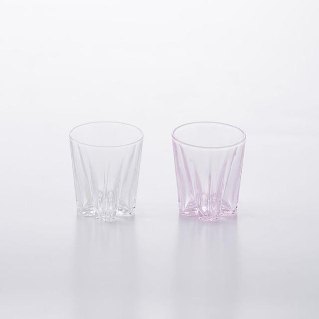 SAKURASAKU glass (サクラサクグラス) Sake(サケ) 【紅白】 ペアセット 木箱入り