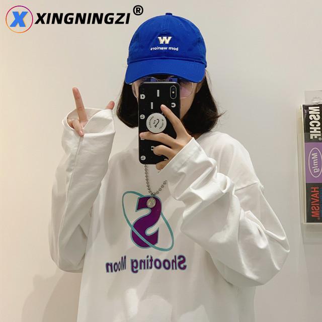 プリントロングTシャツ M-2XL