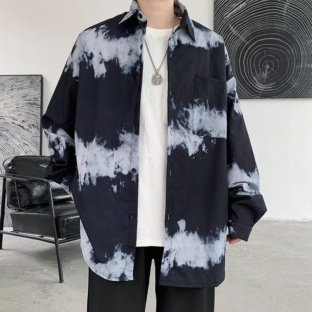 【メンズファッション】SNSで話題沸騰 長袖 シンプル カジュアル タイダイ ファッション メンズトップス シャツ42119896