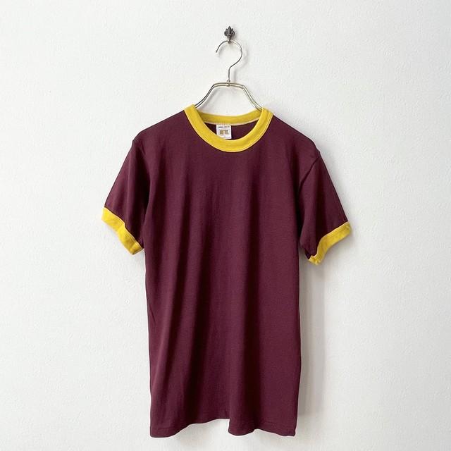 90年代 RUSSELL ATHLETIC ラッセルアスレチック USA製 デッドストック リンガーTシャツ 日本S〜M