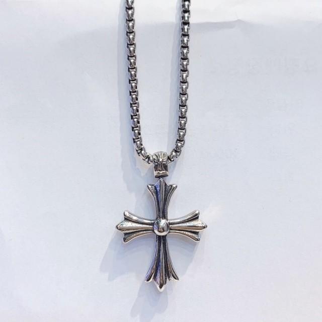 サージカルステンレスクロスネックレス ネックレス ゴシック 韓国ファッション