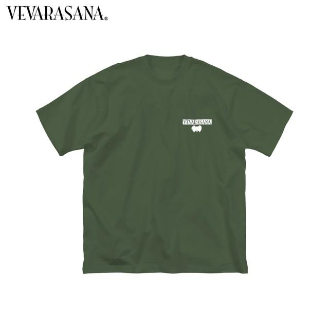 VEVARASANA®︎ ビッグシルエットTシャツ Papillon series ネイビー