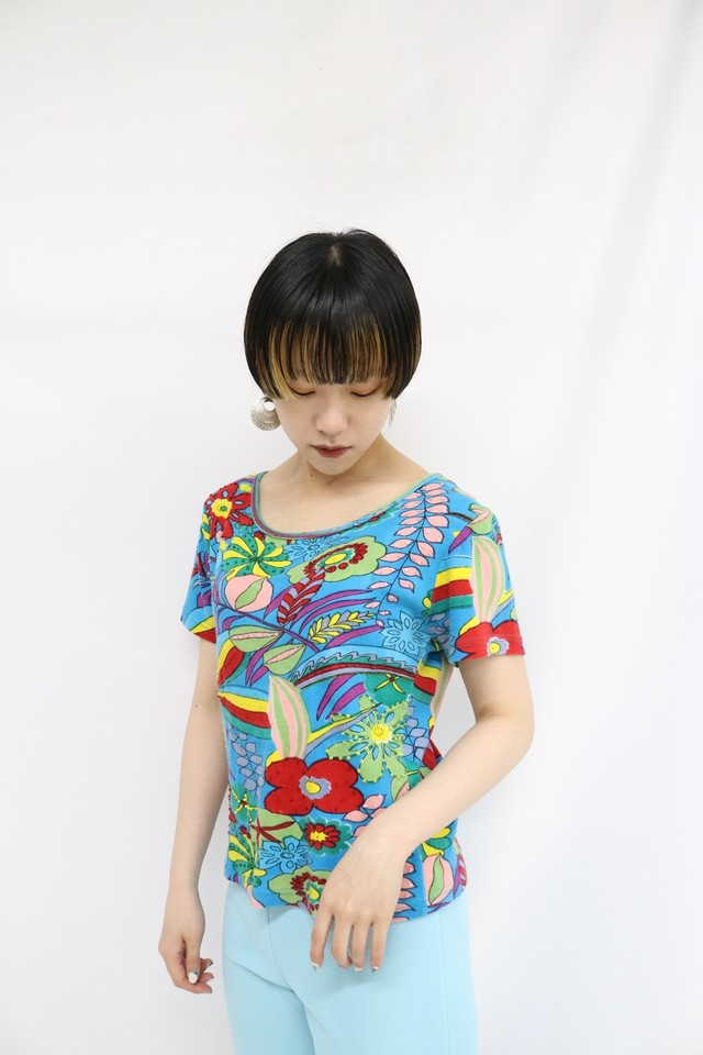 total pattern print T-shirts / 4SSTP20-02
