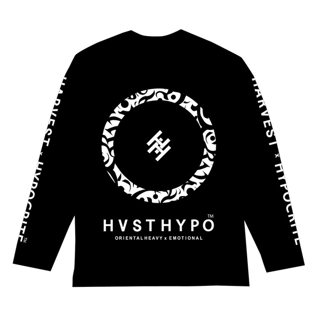 【HYPOCRITE】HARVEST x HYPOCRITE 【HVSTHYPO】LONGSLEEVE TEE BLK