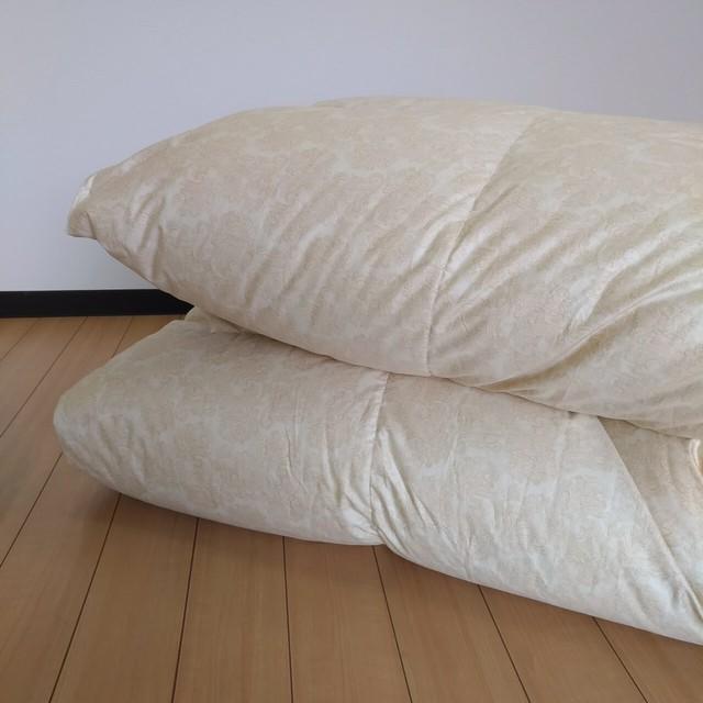 Q-羽毛掛ふとん 【マース】 クイーン ハンガリーホワイトグースダウン−CONキルト (80サテン/1.9kg)