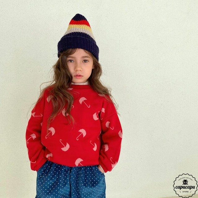 «sold out» umbrella knit 2colors アンブレラニット