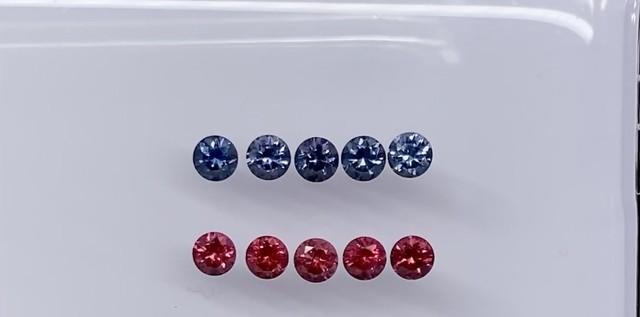丸いスピネル 青のみ 単品 約2.5mm r-0056 ※石は選べません。