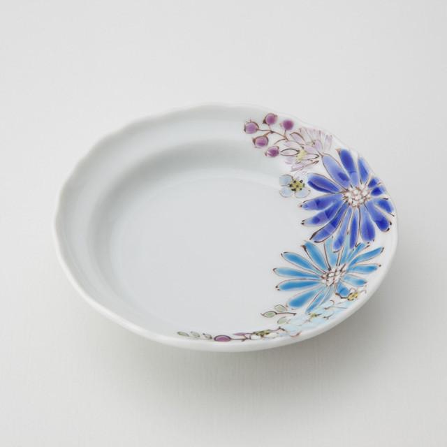 華 青 小皿