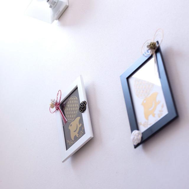 壁掛け◆風水おしゃれインテリア◆箔押し風シールアート
