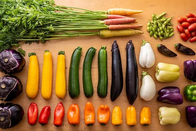 四元豚のおまかせカット肉と季節の野菜