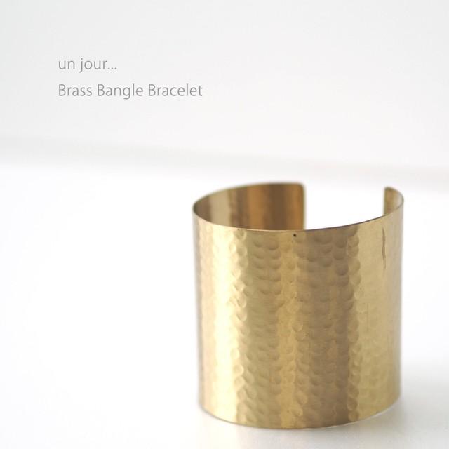 真鍮 バングル ブレスレットゴールドB 58010022-02