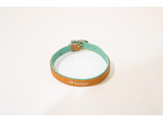 [FBLオリジナル] ブレスレット(ターコイズブルー)/名入れ可能・おそろいの愛ブヒ用カラー(首輪)も [LEBEN×French Bulldog Life products]