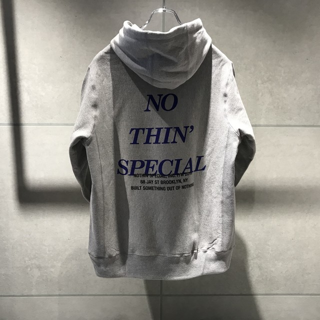 NOTHIN'SPECIAL FW 2018 LOGO PULLOVER / GRAY x PURPLE
