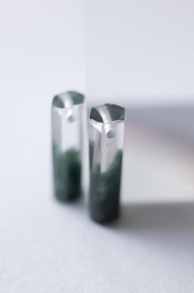 Green Phantom Quartz Pair- 004