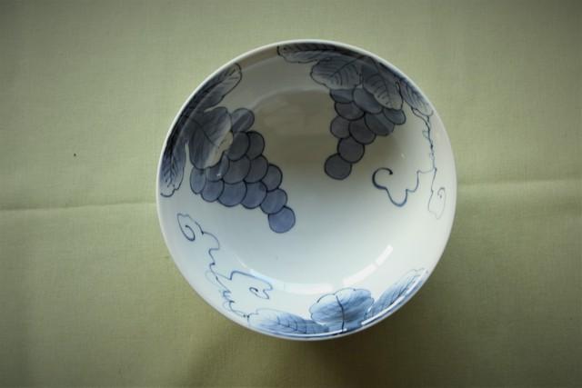 ぶどう7寸浅鉢