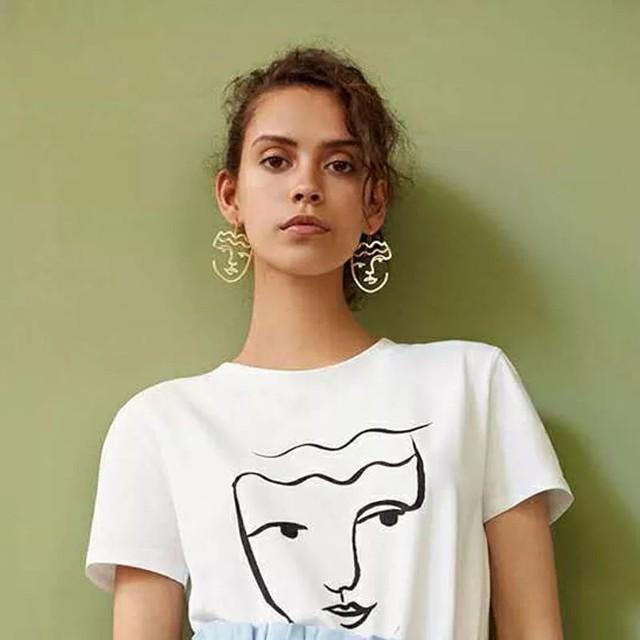 Woman Face Earring♡