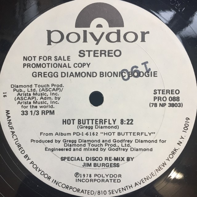 Gregg Diamond Bionic Boogie – Hot Butterfly / Fess Up To The Boogie