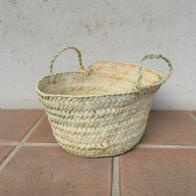 SØMME / PALM LEAF BASKET with handle