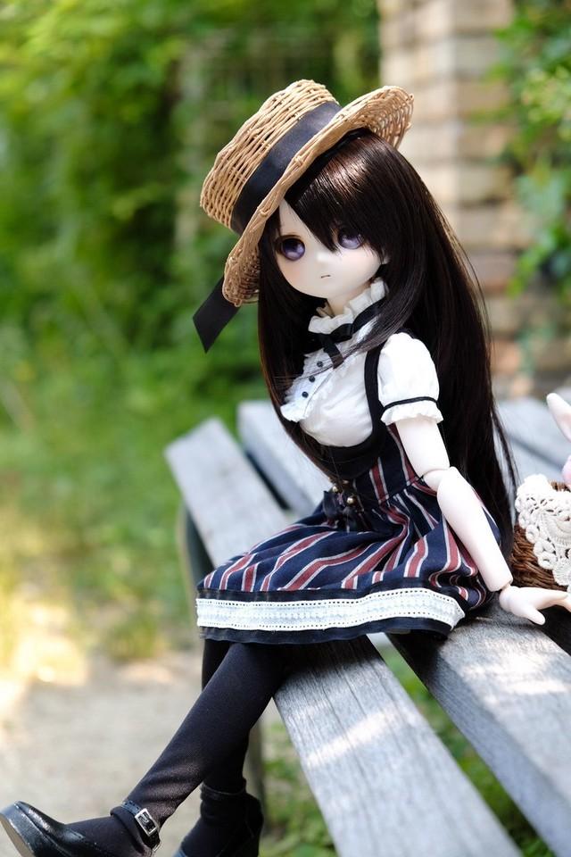 MDD用OFおしゃまジャンパースカート(深紅花柄リボン)