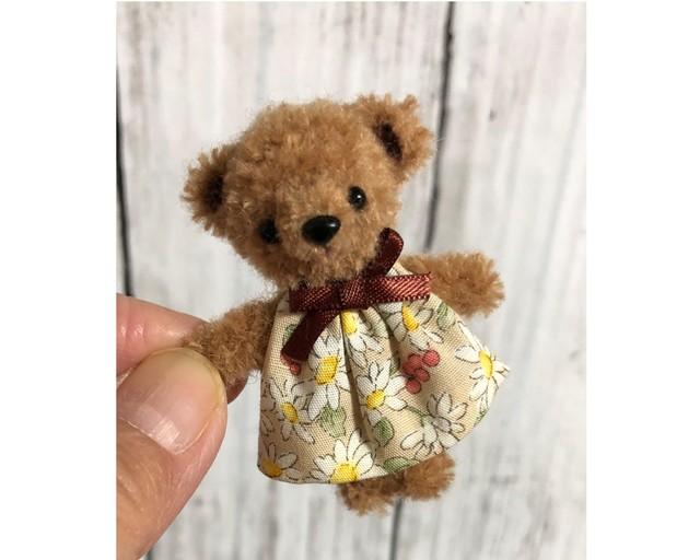 dollnodollお人形のためのテディベア【チョコちびくま】