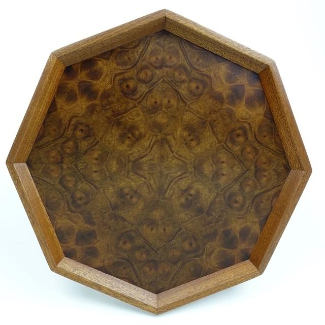 チーク 八角形のトレー OBTK-0165