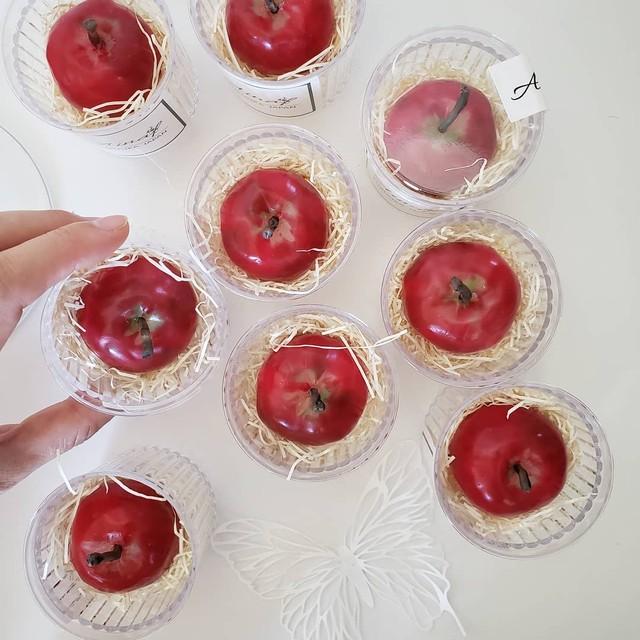姫リンゴの蜜蝋キャンドル