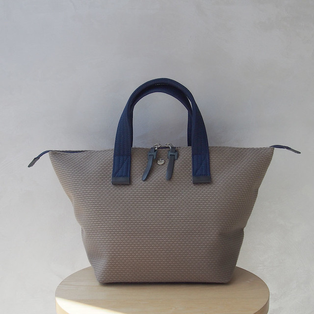 CaBas N°33 Bowler bag small KhakiBeige/Navy