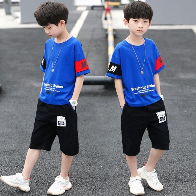 【子供服】Tシャツ 男の子 半袖 Tシャツ子供 セットアップ 韓国 120 130 140 150 160 赤 白 青 レッド ホワイト ブルー