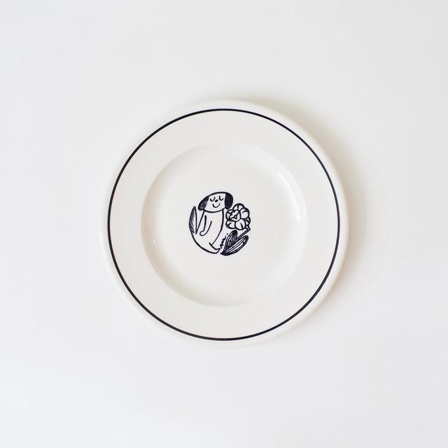 【鹿児島睦(かごしままこと)×John Julian(ジョン・ジュリアン)】 サイドプレート 16cm (犬)